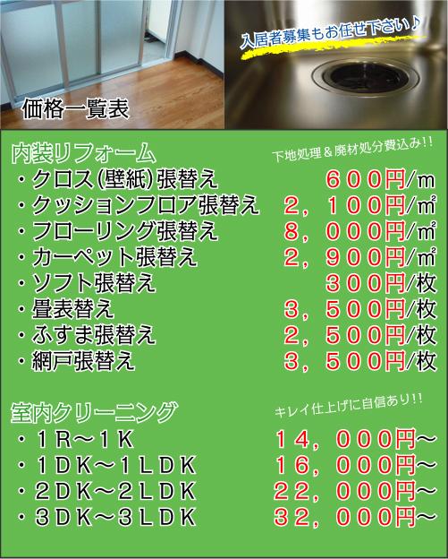 大阪 内装リフォーム〜空室専門リフォーム